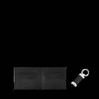 Montblanc Geldbeutel Meisterstück Geschenkset Brieftasche 6 cc und Schlüsselanhänger 118764