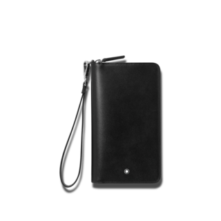 Montblanc Geldbeutel Meisterstück kompakte Reisebrieftasche 126218