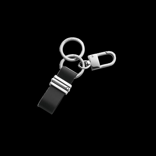 Schlüsselanhänger Montblanc Meisterstück Schlaufe mit Haken aus Edelstahl und Rindsleder bei Brogle