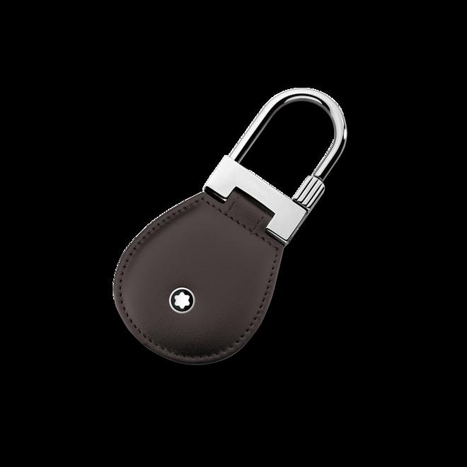 Schlüsselanhänger Montblanc Meisterstück Schlüsselanhänger aus Edelstahl und Rindsleder bei Brogle