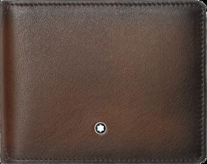 Geldbeutel Montblanc Meisterstück Sfumato Brieftasche 4 cc mit Geldclip aus Rindsleder