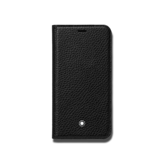 Montblanc Handyhülle Meisterstück Soft Grain Flip Side Cover, aufstellbar, für das Apple iPhone XS 124893