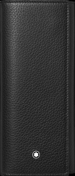 Stiftetui Montblanc Meisterstück Soft Grain für 2 Schreibgeräte aus Rindsleder