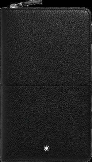 Geldbeutel Montblanc Meisterstück Soft Grain Reisebrieftasche aus Rindsleder