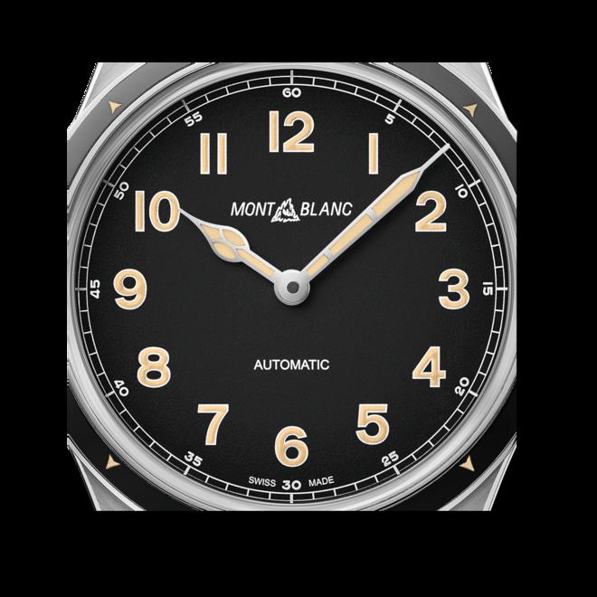 Herrenuhr Montblanc 1858 Automatic Limited Edition mit schwarzem Zifferblatt und Kalbsleder-Armband bei Brogle