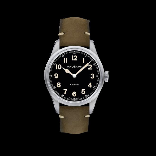 Herrenuhr Montblanc Geosphere Limited Edition mit schwarzem Zifferblatt und Kalbsleder-Armband bei Brogle