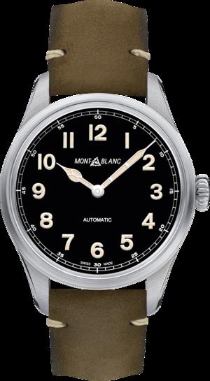 Herrenuhr Montblanc Geosphere Limited Edition mit schwarzem Zifferblatt und Kalbsleder-Armband