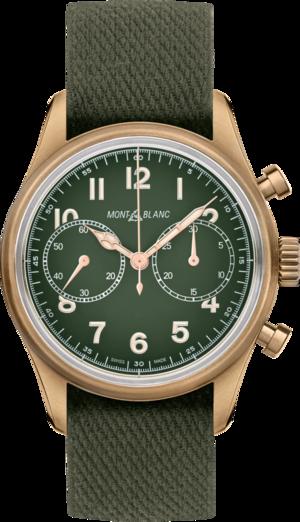 Herrenuhr Montblanc Geosphere Limited Edition mit grünem Zifferblatt und Nylonarmband