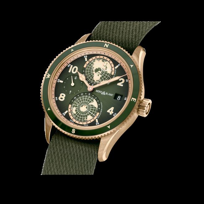 Herrenuhr Montblanc Geosphere Limited Edition mit grünem Zifferblatt und Nylonarmband bei Brogle
