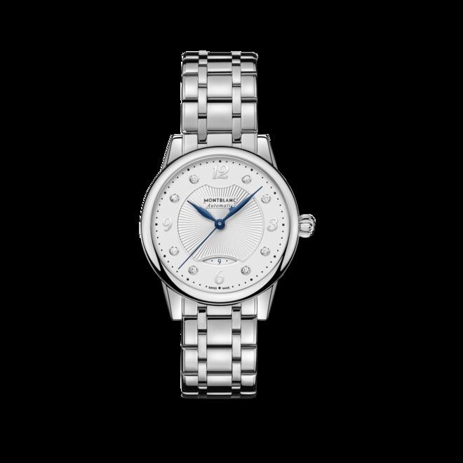 Damenuhr Montblanc Bohème Date Automatic mit Diamanten, silberfarbenem Zifferblatt und Edelstahlarmband bei Brogle