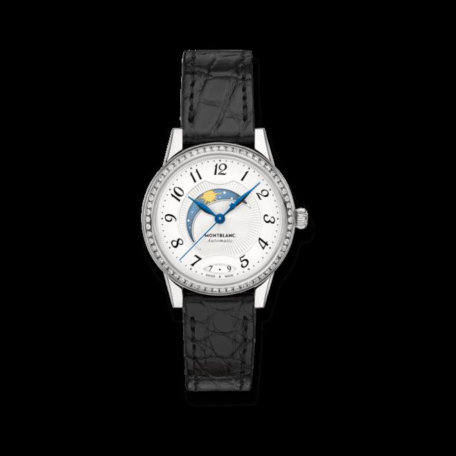 Damenuhr Montblanc Bohème Day & Night mit Diamanten, weißem Zifferblatt und Alligatorenleder-Armband bei Brogle