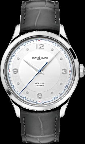 Armbanduhr Montblanc Heritage Automatik 40mm mit silberfarbenem Zifferblatt und Alligatorenleder-Armband