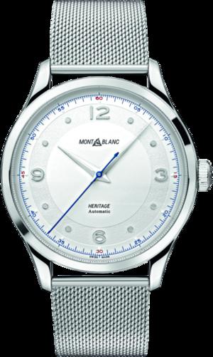 Armbanduhr Montblanc Heritage Automatik 40mm mit silberfarbenem Zifferblatt und Edelstahlarmband