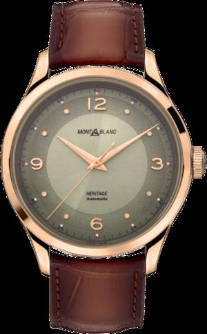 Armbanduhr Montblanc Heritage Automatik 40mm mit grünem Zifferblatt und Alligatorenleder-Armband