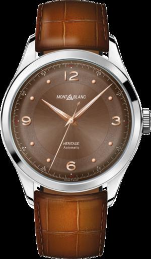 Armbanduhr Montblanc Heritage Automatik 40mm mit Zifferblatt und Alligatorenleder-Armband