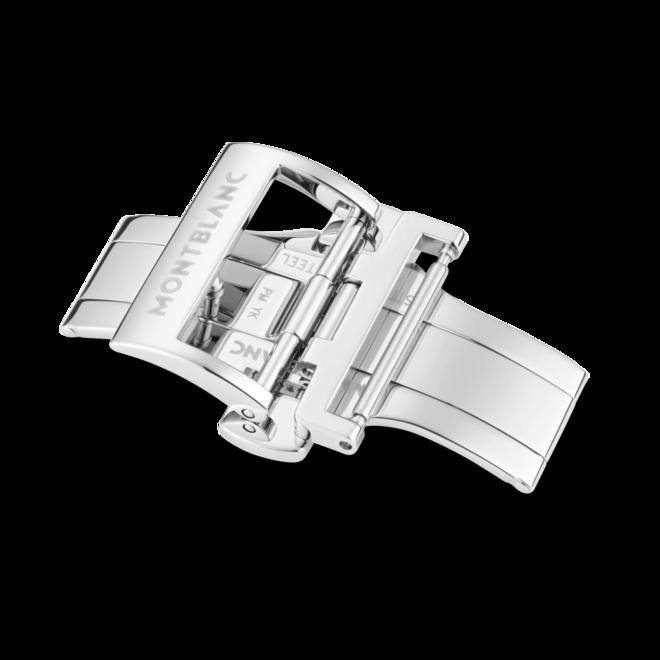 Herrenuhr Montblanc Heritage Automatik Chronograph 41mm mit silberfarbenem Zifferblatt und Alligatorenleder-Armband bei Brogle
