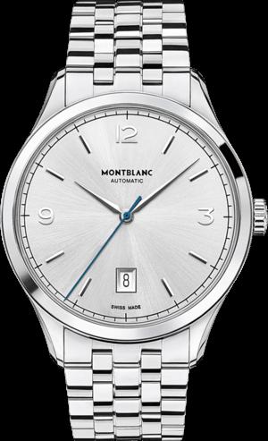 Herrenuhr Montblanc Heritage Chronométrie Automatic mit silberfarbenem Zifferblatt und Edelstahlarmband