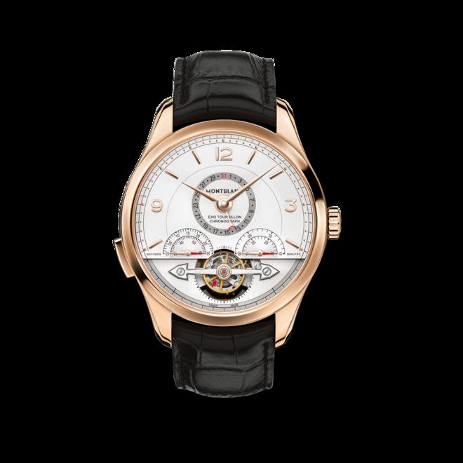 Herrenuhr Montblanc ExoTourbillon Minute Chronograph mit weißem Zifferblatt und Alligatorenleder-Armband bei Brogle
