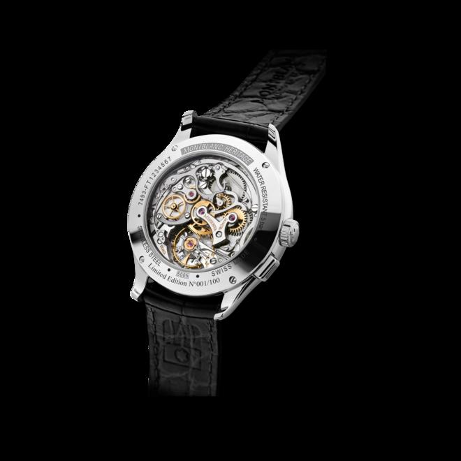 Armbanduhr Montblanc Pulsograph Limited Edition mit rosafarbenem Zifferblatt und Alligatorenleder-Armband bei Brogle