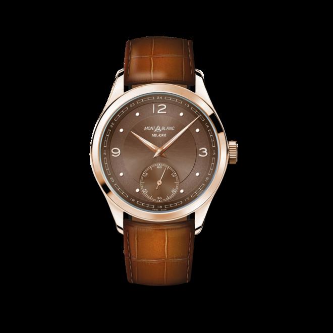 Armbanduhr Montblanc Heritage Pythagore Small Second mit braunem Zifferblatt und Alligatorenleder-Armband bei Brogle