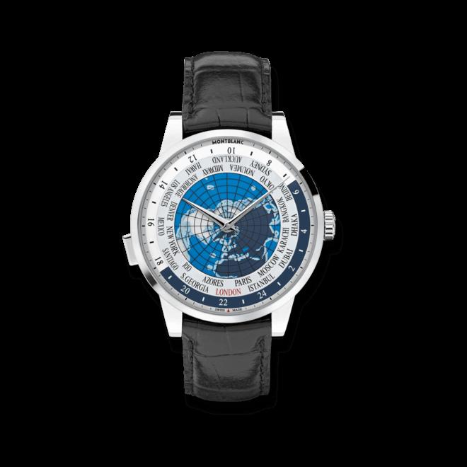 Herrenuhr Montblanc Heritage Spirit Orbis Terrarum mit blauem Zifferblatt und Alligatorenleder-Armband bei Brogle