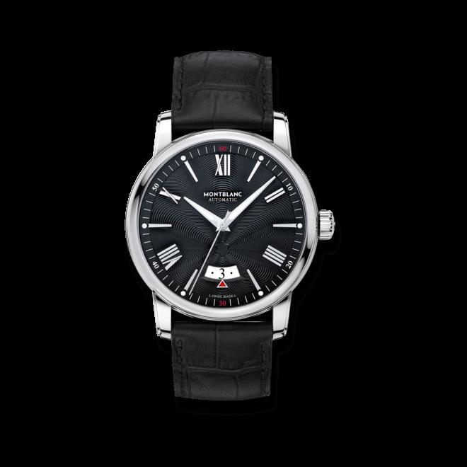 Herrenuhr Montblanc 4810 Automatic Date mit schwarzem Zifferblatt und Alligatorenleder-Armband