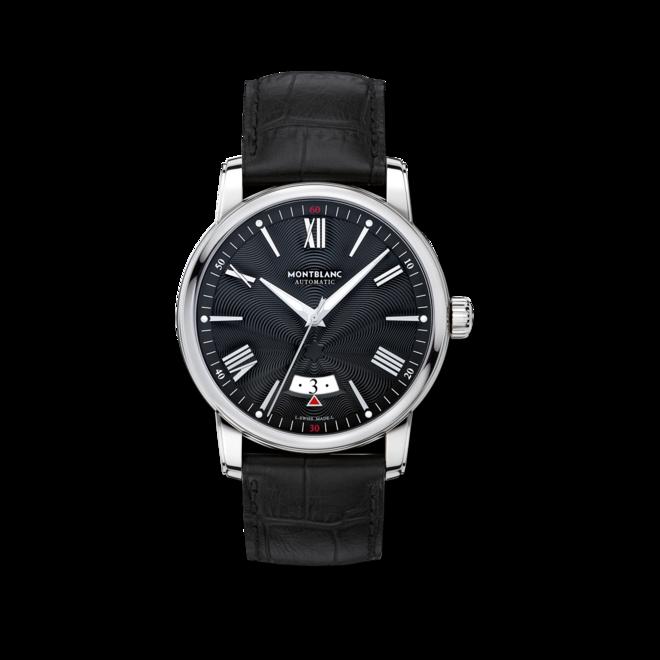 Herrenuhr Montblanc 4810 Date Automatic mit schwarzem Zifferblatt und Alligatorenleder-Armband bei Brogle