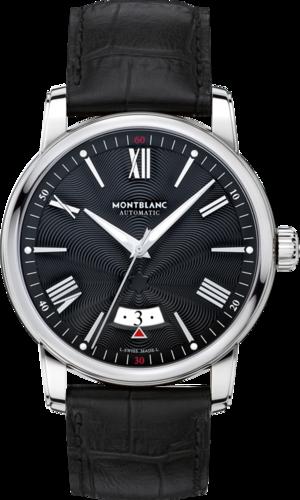 Herrenuhr Montblanc 4810 Date Automatic mit schwarzem Zifferblatt und Alligatorenleder-Armband