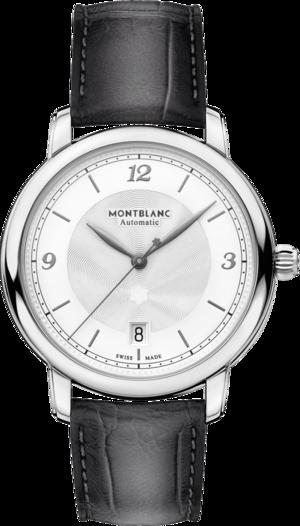 Armbanduhr Montblanc Star Automatik 39mm mit beigefarbenem Zifferblatt und Alligatorenleder-Armband