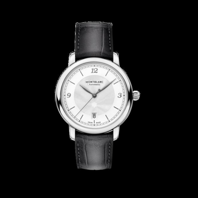 Armbanduhr Montblanc Star Automatik 39mm mit beigefarbenem Zifferblatt und Alligatorenleder-Armband bei Brogle