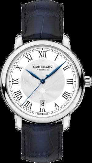 Herrenuhr Montblanc Star Automatik 39mm mit weißem Zifferblatt und Alligatorenleder-Armband