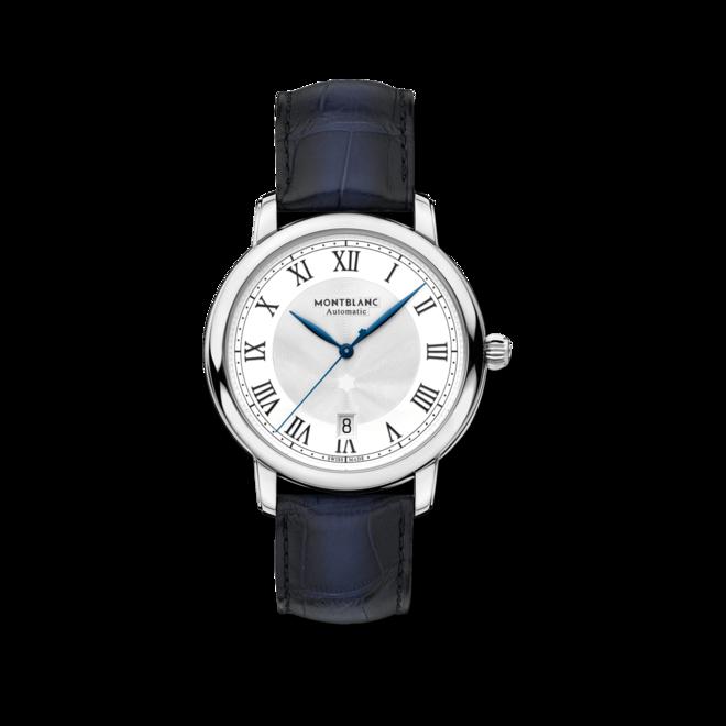 Herrenuhr Montblanc Star Automatik 39mm mit weißem Zifferblatt und Alligatorenleder-Armband bei Brogle