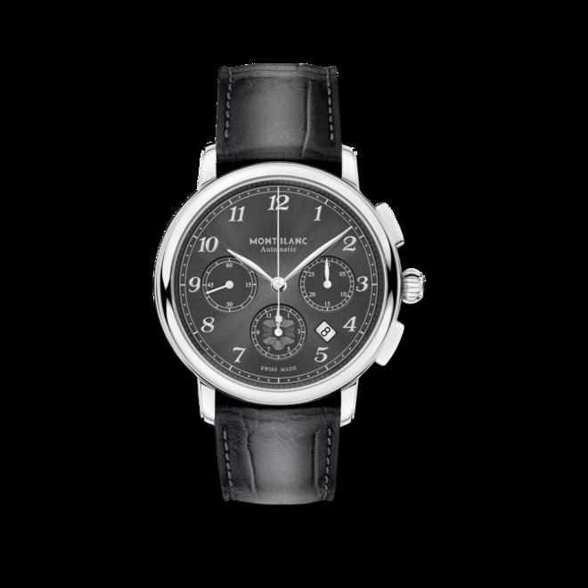 Herrenuhr Montblanc Star Legacy Automatic Chronograph mit grauem Zifferblatt und Alligatorenleder-Armband bei Brogle