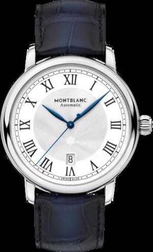 Herrenuhr Montblanc Star Legacy Automatic Date mit weißem Zifferblatt und Alligatorenleder-Armband