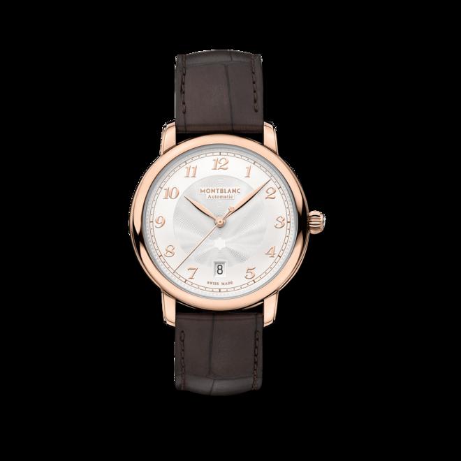 Armbanduhr Montblanc Star Legacy Automatic Date 39mm mit elfenbeinfarbenem Zifferblatt und Alligatorenleder-Armband bei Brogle