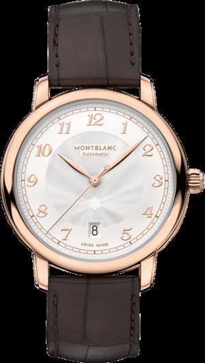 Armbanduhr Montblanc Star Legacy Automatic Date 39mm mit elfenbeinfarbenem Zifferblatt und Alligatorenleder-Armband