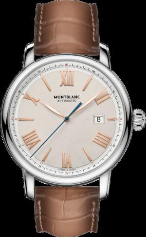 Herrenuhr Montblanc Star Legacy Automatic Date 43mm mit elfenbeinfarbenem Zifferblatt und Alligatorenleder-Armband