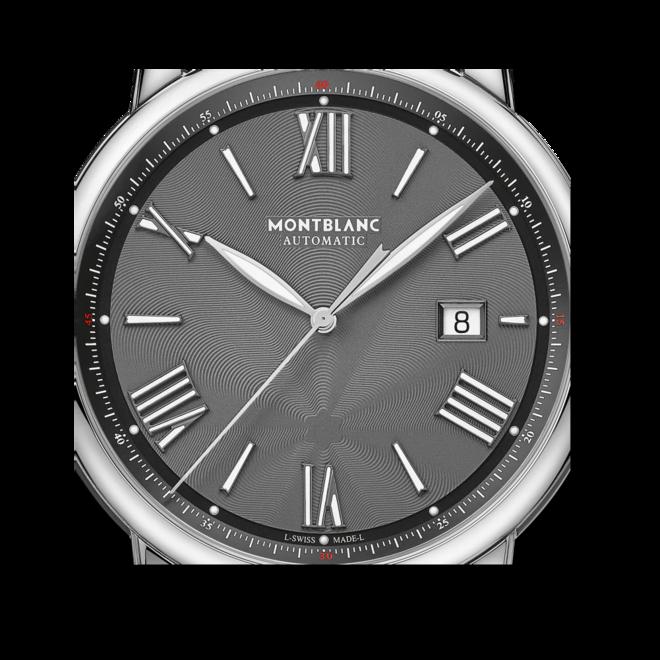 Herrenuhr Montblanc Star Legacy Automatic Date 43mm mit grauem Zifferblatt und Alligatorenleder-Armband bei Brogle