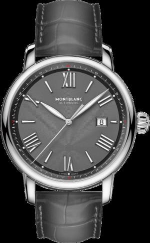 Herrenuhr Montblanc Star Legacy Automatic Date 43mm mit grauem Zifferblatt und Alligatorenleder-Armband