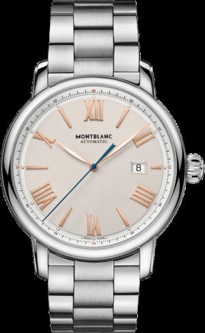 Herrenuhr Montblanc Star Legacy Automatic Date 43mm mit elfenbeinfarbenem Zifferblatt und Edelstahlarmband