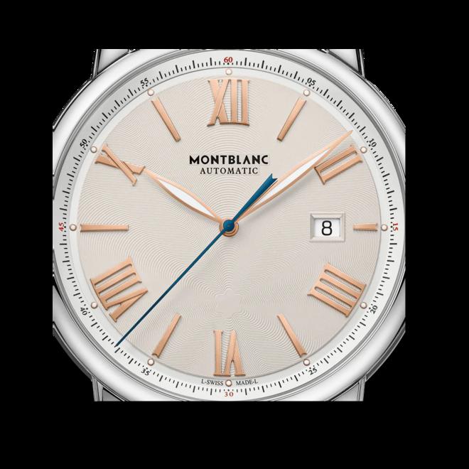 Herrenuhr Montblanc Star Legacy Automatic Date 43mm mit elfenbeinfarbenem Zifferblatt und Edelstahlarmband bei Brogle