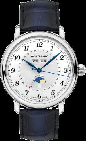 Herrenuhr Montblanc Star Legacy Full Calendar mit weißem Zifferblatt und Alligatorenleder-Armband