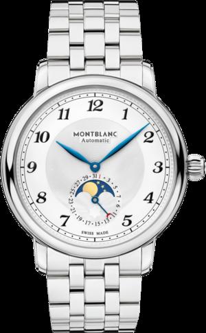 Herrenuhr Montblanc Star Legacy Moonphase 42mm mit silberfarbenem Zifferblatt und Edelstahlarmband