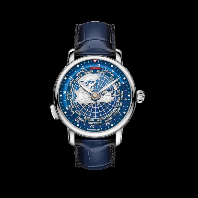 Herrenuhr Montblanc Star Legacy Orbis Terrarum mit blauem Zifferblatt und Alligatorenleder-Armband bei Brogle