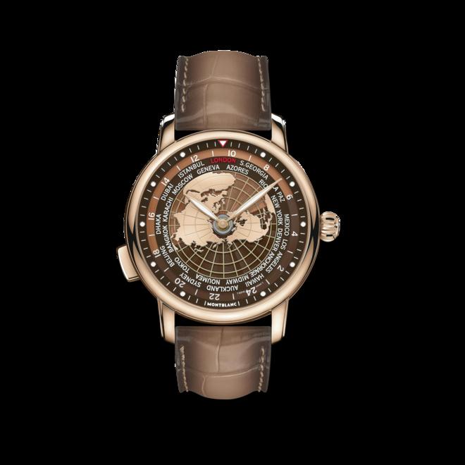 Herrenuhr Montblanc Star Legacy Orbis Terrarum, Limited Edition mit zweifarbigem Zifferblatt und Alligatorenleder-Armband bei Brogle