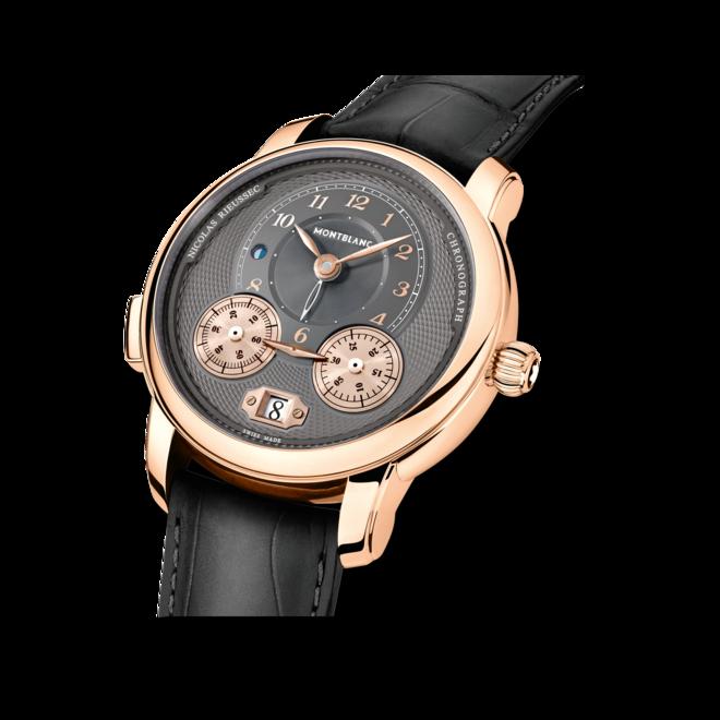 Herrenuhr Montblanc Nicolas Rieussec Chronograph mit anthrazitfarbenem Zifferblatt und Alligatorenleder-Armband bei Brogle