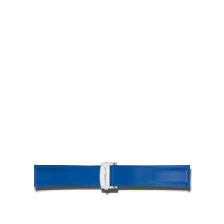 Montblanc Uhren-Armband Summit 2 Kalbslederarmband in Blau 119705