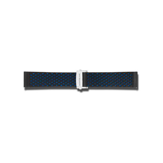 Uhren-Armband Montblanc Summit 2 Sportarmband aus Kautschuk in Blau Uhren-Armband mit Faltschließe bei Brogle
