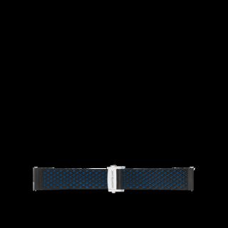 Montblanc Uhren-Armband Summit 2 Sportarmband aus Kautschuk in Blau 123766