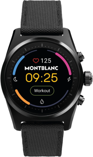 Smartwatch Montblanc Summit Lite Aluminium mit Textilarmband